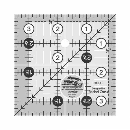Creative Grids Ruler 3-1/2in Square