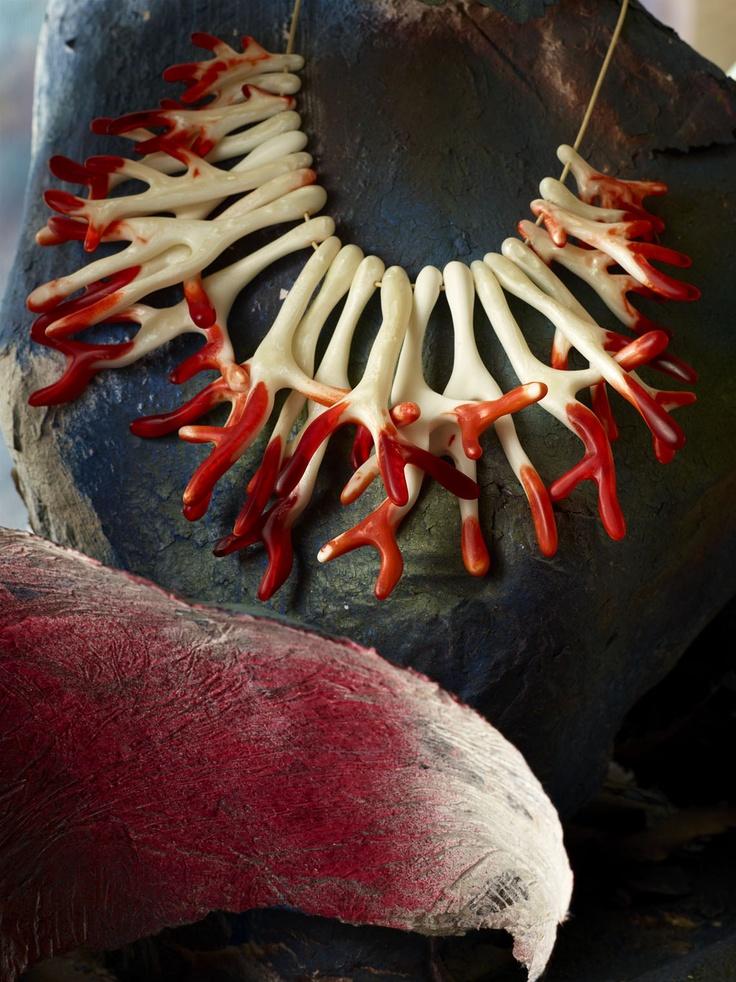 Dinosaur Designs Coral Fan Necklace