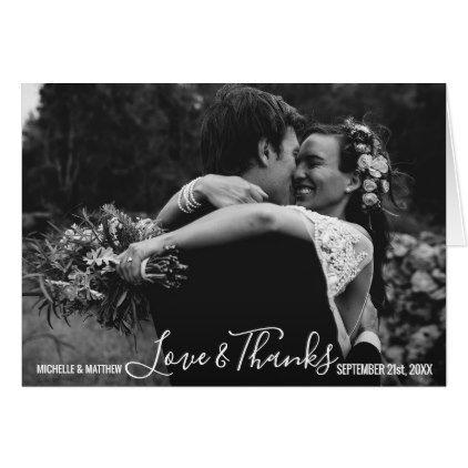 Script THANK YOU wedding anniversary   Add PHOTO Card - anniversary gifts ideas diy celebration cyo unique