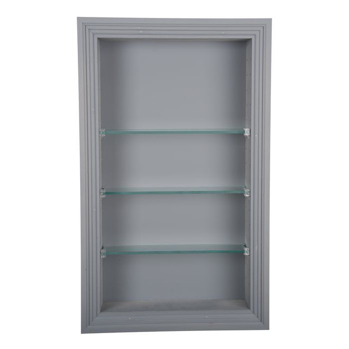 Wg Wood Products Newberry 14 W X 20 H Recessed Shelving Wayfair Recessed Cabinet Wall Mounted Cabinet Recessed Shelves