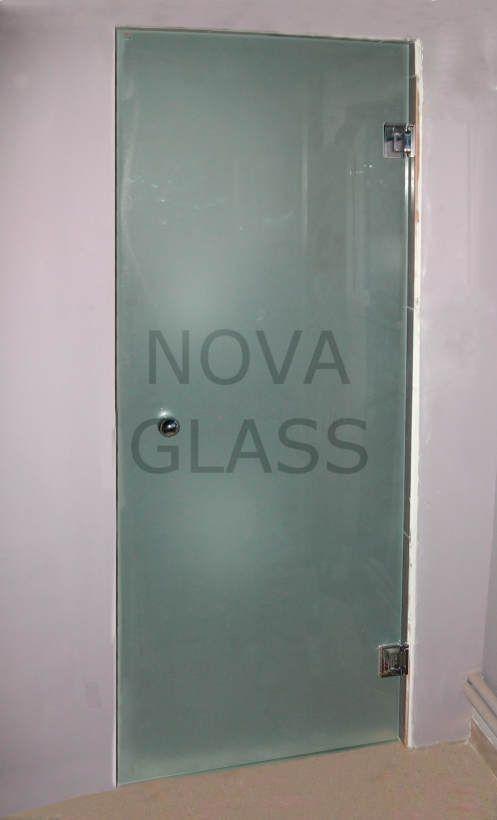 Γυάλινη ανοιγόμενη πόρτα σατινέ 10mm