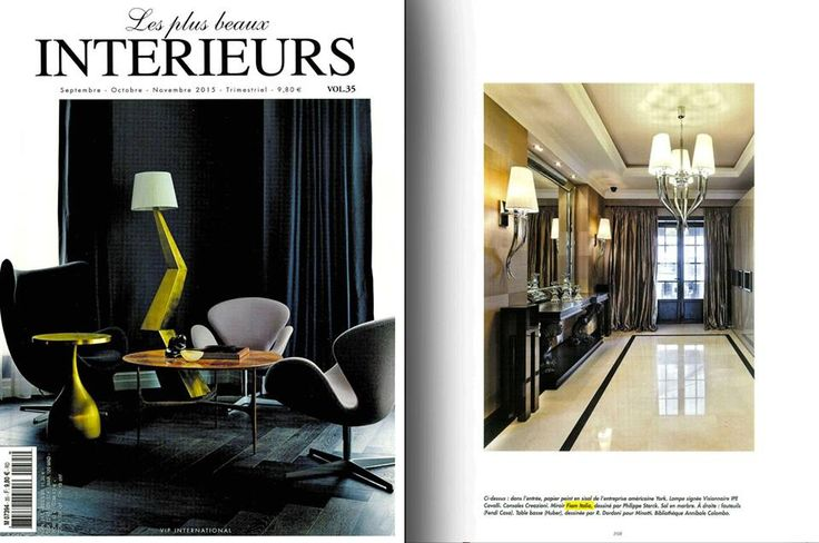 Caadre mirror by Fiam, design Philippe Starck, on LES PLUS BEAUX INTERIEURS MAGAZINE - September/October/November 2015. #Fiam