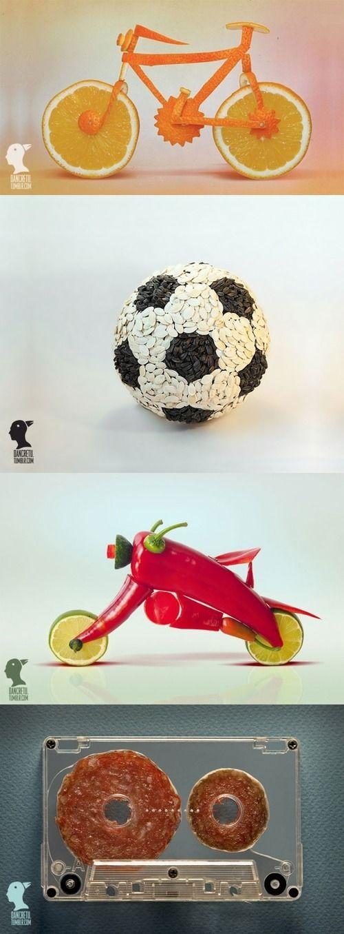 Оригинальные поделки из фруктов и овощей
