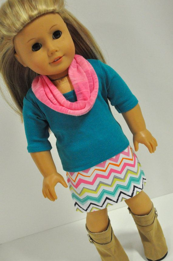 Hey, I found this really awesome Etsy listing at https://www.etsy.com/listing/205847434/american-girl-doll-clothes-pink-and-teal