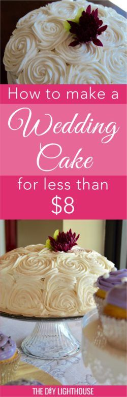 A DIY Wedding cake for the savvy, budget conscious bride. Beautiful, easy and cheap! Less than 8 dollars, to be exact...doesn't get much better.