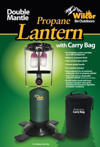 Double Mantle Propane Lantern with Carry Bag