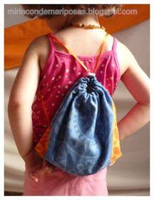Dentro de nada empieza el curso, ¡es el primer año de mi nena!   A ella le encanta las mochilas, pero tan pequeños en el cole sólo pueden l...