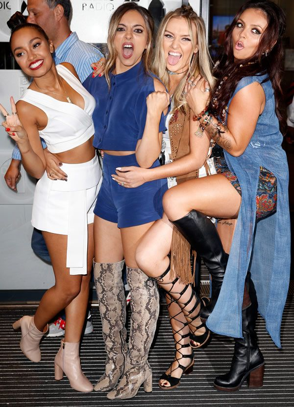Leigh-Anne, Jade, Perrie e Jesy do grupo Little Mix