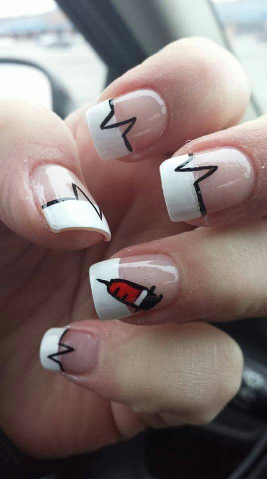 Nurse Nails Nail Design In 2018 Pinterest And Designs