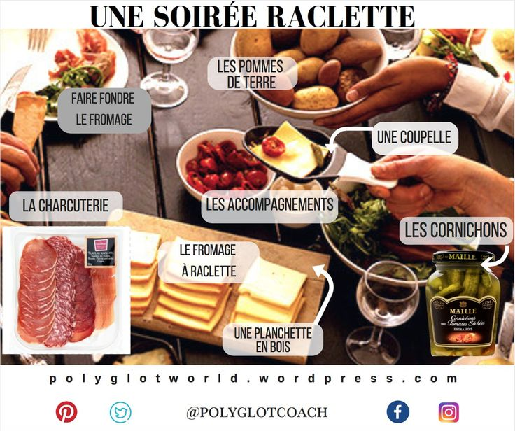 Les plats #français- #French dishes- la raclette- vocabulaire- #FLE- Polyglotcoach (@Polyglotcoach) | Twitter