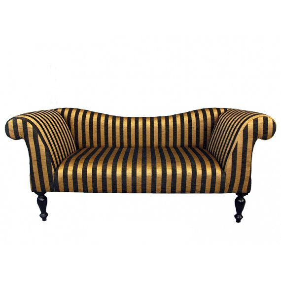 Gold And Black Stripe Chaise Sofa By Zedhead On 700 00