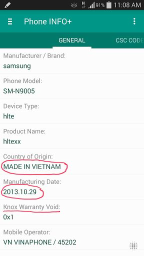 Phone INFO Samsung v3.4.6 b78 Offline Paid Patched   Phone INFO Samsung v3.4.6 b78 Offline Paid PatchedRequirements:2.1Overview: Written specifically for SAMSUNG phones   Have you ever wanted to know the Country of Origin behind the label 'MADE BY SAMSUNG'? When the phone was manufactured? How frequently the phone was used? How many times it has been connected to the Charger? Do you want to know the Knox Warranty Void status without entering to the ODIN Download Mode?... Then this app is for…