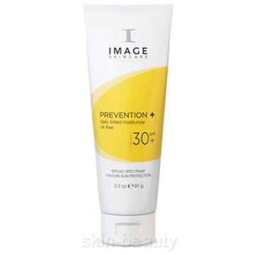 Image Skincare Prevention + Daily Tinted Moisturizer SPF 30 - 3.2 oz This daily tinted moisturizer with a built in broad spectrum UVA/UVB high sun protection provides an even skin tone and healthy glow. Lightweight, sheer formula absorbs quickly without any residue.