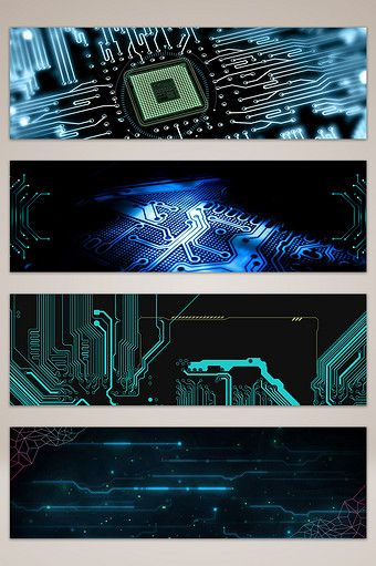 Minimalistic atmospheric blue technology banner poster background#pikbest#backgrounds