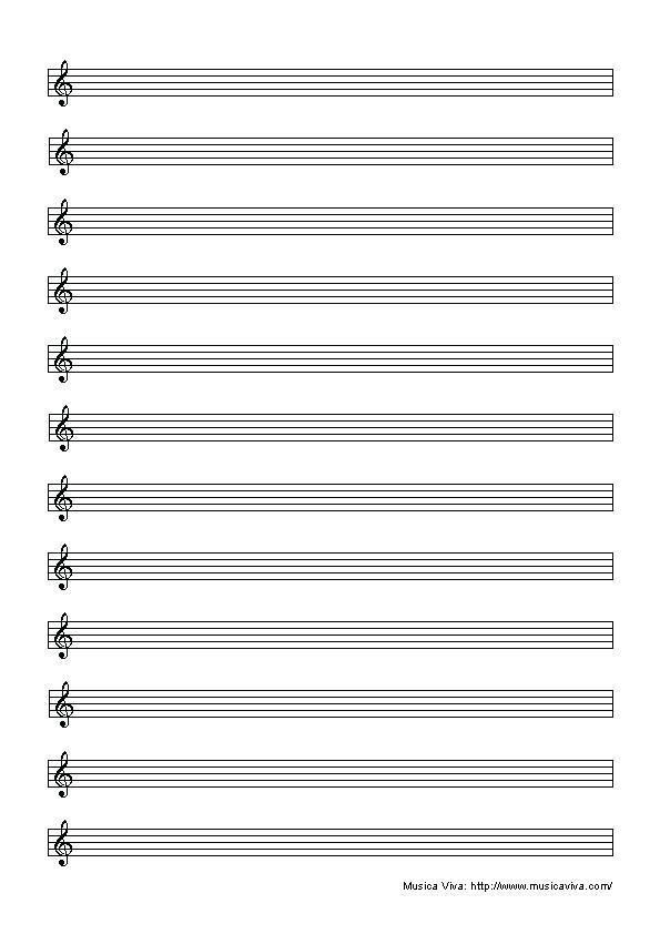 25 Blank Music Staff Paper Landscape Pictures And Ideas On Pro