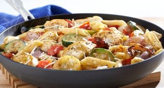 Lemon & Pepper Chicken with Penne and Vegetables: For dinner in a hurry, start with Perfect Pinch® Lemon & Pepper Seasoning and Birds Eye® Recipe Ready Grilling Blend. Be sure to put the...