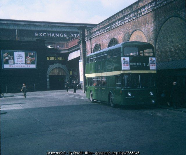 Bus in Victoria Bus Station, Manchester (C) David Hillas :: Geograph Britain and Ireland