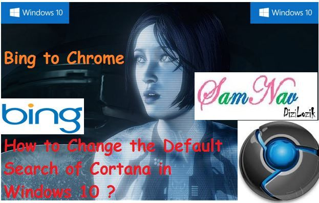 How to change the default search of Cortana in Windows 10.