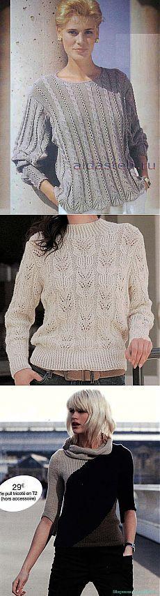 Пуловеры спицами. Подборка 174.