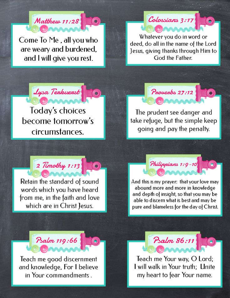 Free Printable Verse Cards.  Tons of other printables on this site as well.