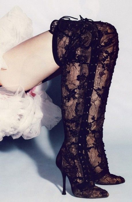 Lace boots.... Seriously and totally FABU-LOUS!!!