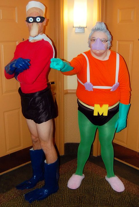 funny couple costume mermaid man and baracle boy