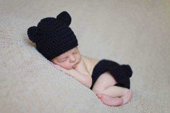 Baby Bear Newborn Set by AddieBooAccessories on Etsy