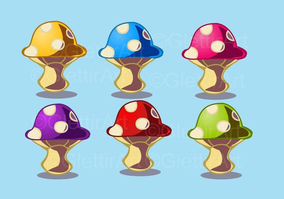 50% Off Sale Mushroom clipart clipart for personal by GlettirArt