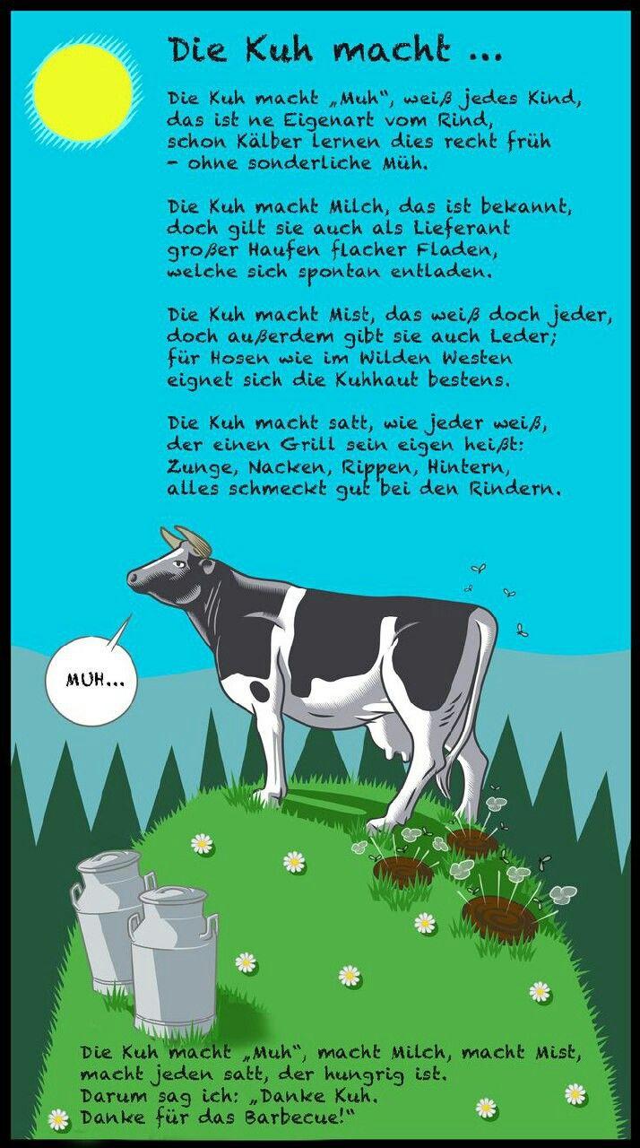 Pin Von Agnes Auf Reime Verse Mit Bildern Kuh Kuh