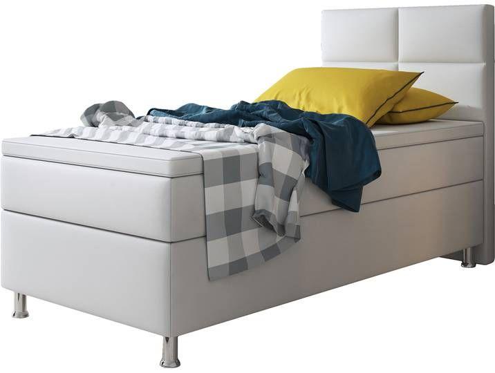 Boxspringbett Miami 90x200 Cm Kunstleder Weiss Furniture Home