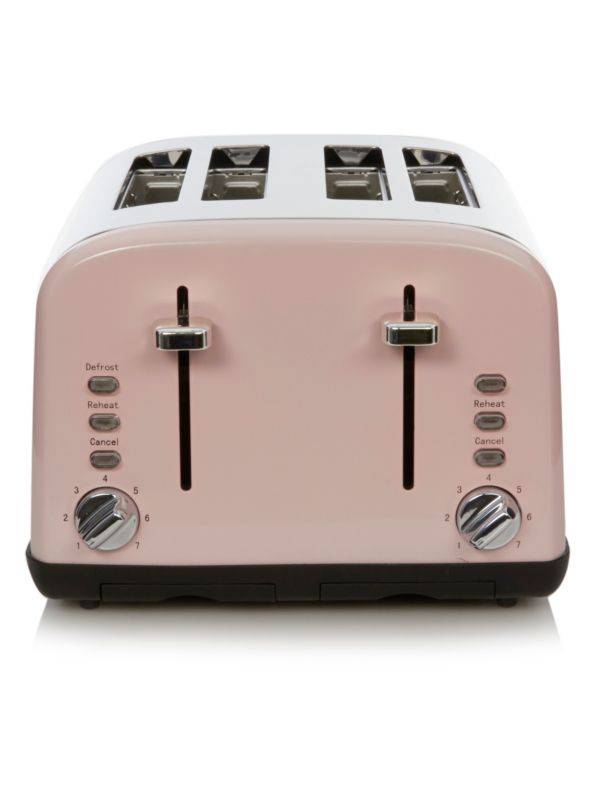 Krups Coffee Maker Asda : George Home 4 Slice Toaster with Silver Controls - Pink