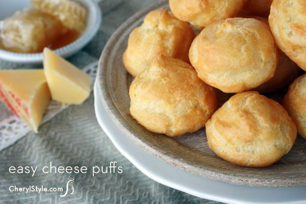 Emmental cheese puff with honey — CherylStyle