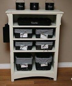 Another good re-purpose DIY! Don't throw out the chest of drawers when you buy a…
