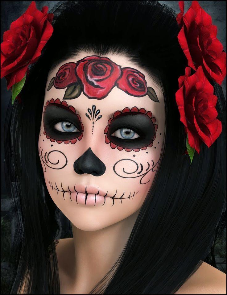 Descubre cómo hacer este espectacular maquillaje para la noche de difuntos.