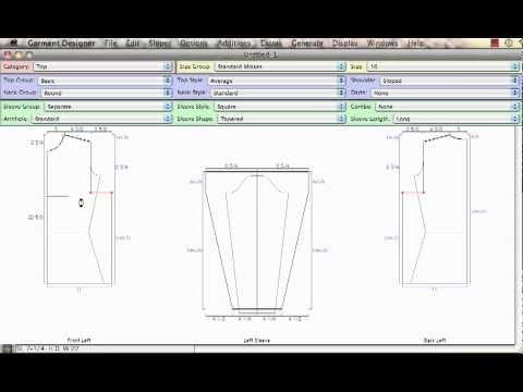 Garment Designer Software: Armholes & Sleeve Relationships - YouTube