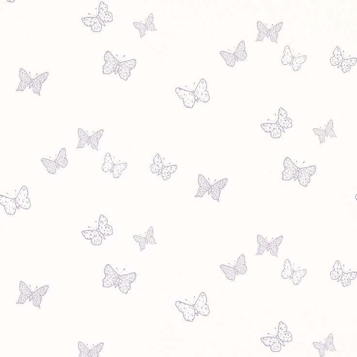 Bella Butterfly Colouring-In Wallpaper by Laura Ashley
