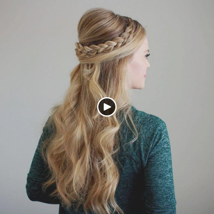 Prom Hairstyles Side Bun Braided Half Updo for Straight ...