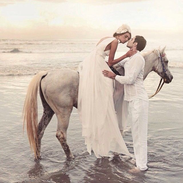 You can rent a horse to get this shot at your beach wedding.