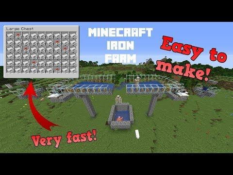 Easy Minecraft Iron Farm 1 14 4 Tutorial Very Fast Youtube Minecraft Iron Minecraft Blueprints Minecraft Tutorial