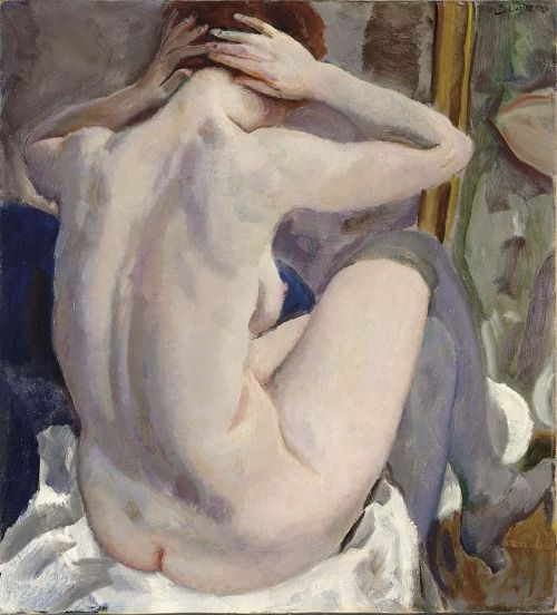 Seated Nude Before the Mirror  -  Jan Sluijters      Dutch 1881-1957