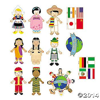 Kids Around the World Cutouts: could be part of centerpiece