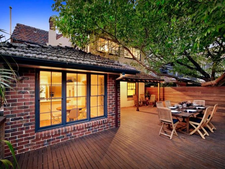 outdoor living ideas outdoor area photos red brick - Exterior House Colors With Red Brick