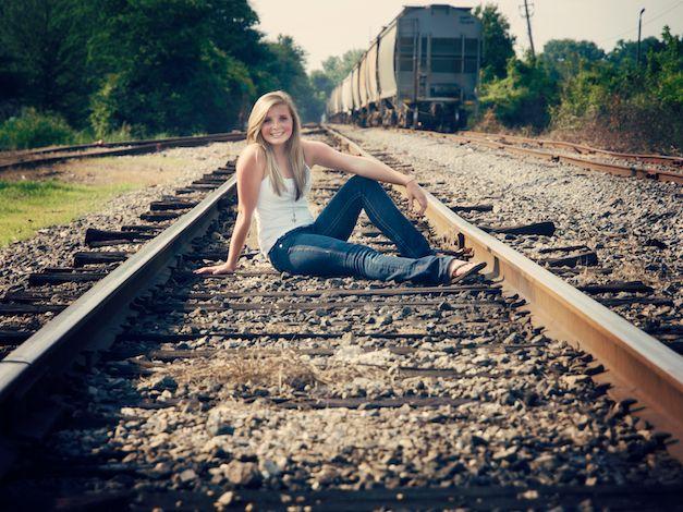 senior pictures ideas on railroad tracks - Google Search