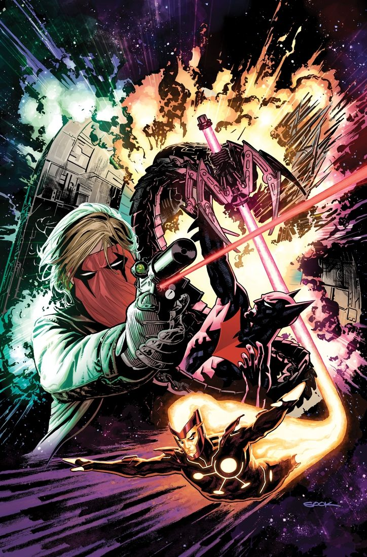 by KEITH GIFFEN, DAN JURGENS, BRIAN AZZARELLO and JEFF LEMIRE / Art by PATRICK ZIRCHER / Cover by RYAN SOOK