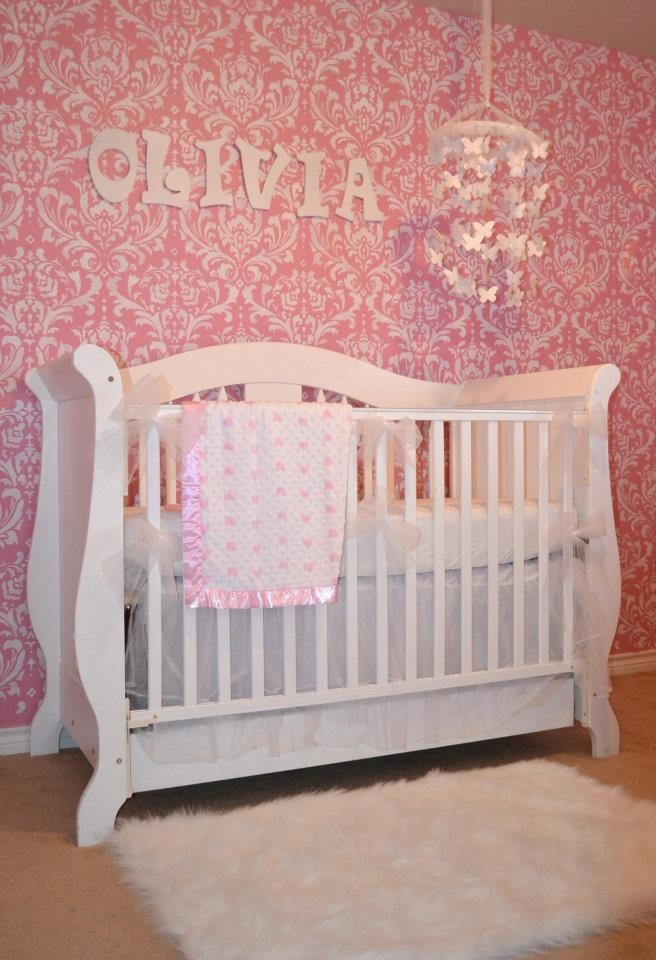 A Do It Yourself/on A Budget Nursery  PICS. Baby Girl Nursery DecorNursery  ...