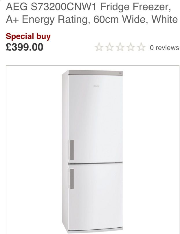 Aeg special but fridge freezer john Lewis £399