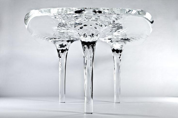 zaha hadid upside down puddle table