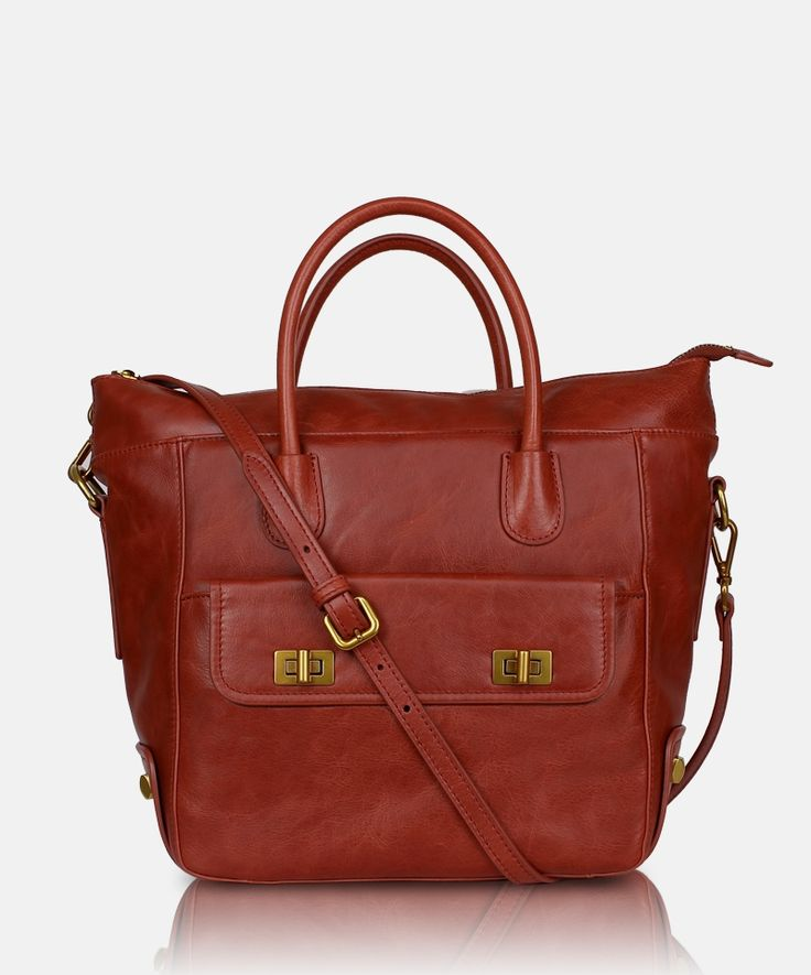 Bag GA Sfera D1360304 Canyon Coral. Women's leather hand bag by Giorgio Agnelli