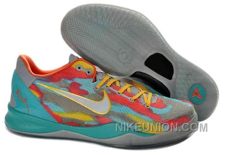 2013 Nike Zoom Kobe 8 Tropical Twist tiff blue Cool Grey Orange Yellow  555035 002 For Sale