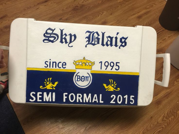 beta theta pi corona fraternity cooler formal   Buy customized painted fraternity coolers like this one at https://www.etsy.com/listing/462684360/painted-sorority-or-fraternity-cooler